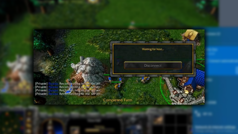 Warcraft 3 Reforged reconnect